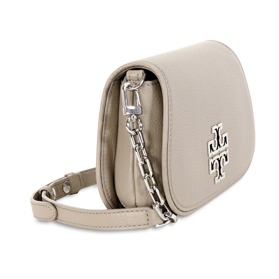 c8a7ec945605 Tory Burch Britten Ladies Mini Crossbody - French Grey - Tory Burch ...