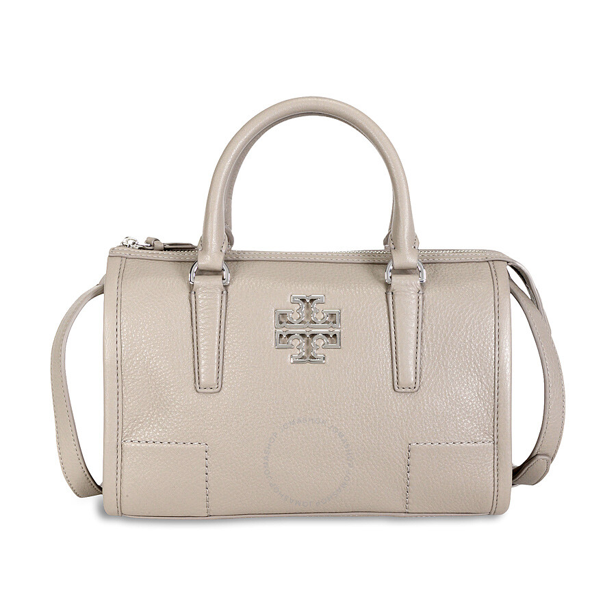 59781c824d27 Tory Burch Britten Small Leather Satchel - French Grey Item No. 41159873-GRY