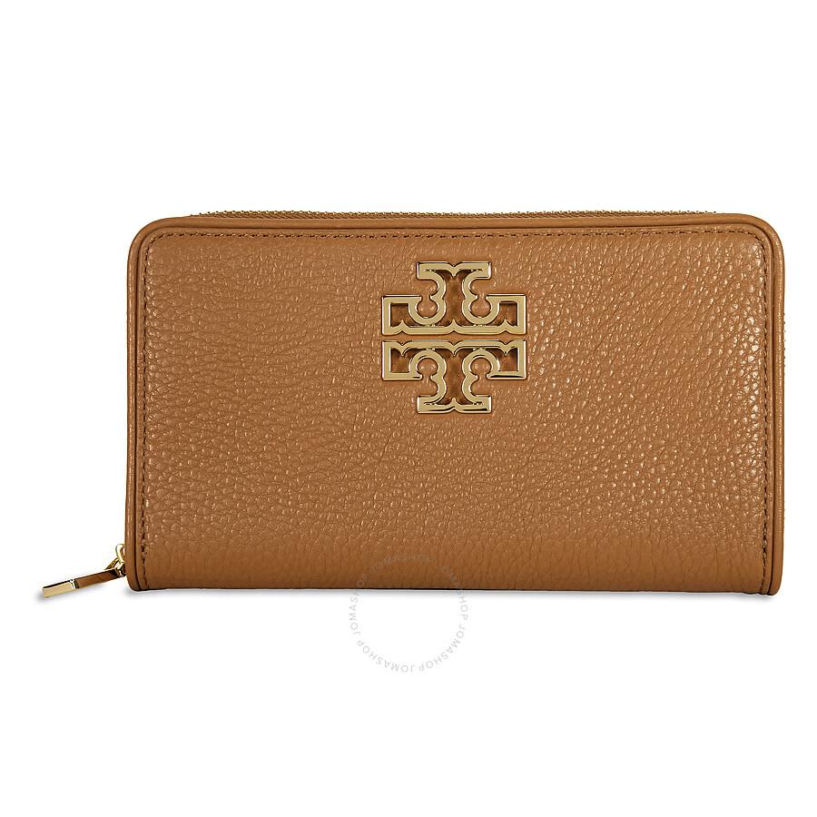 922c66b8256 Tory Burch Britten Zip Continental Wallet - Bark Item No. 29910-209