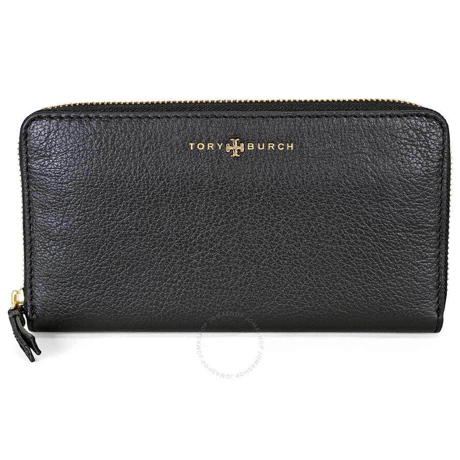 2857fdc98b Tory Burch Brody Leather Continental Zip Wallet - Black - Tory Burch ...
