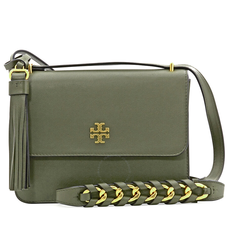 495338159e0f Tory Burch Brooke Leather Shoulder Bag- Leccio Item No. 44778-325