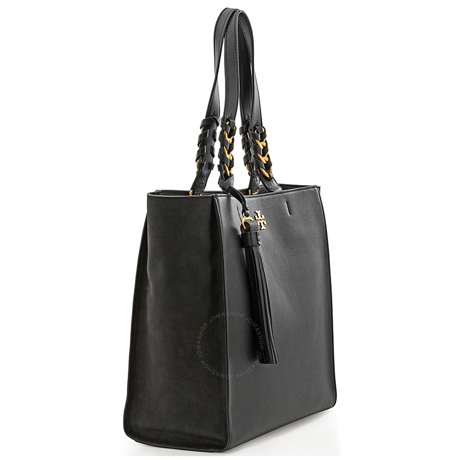 4ae0b934f32a0 Tory Burch Brooke Leather Tote- Black - Tory Burch - Handbags - Jomashop