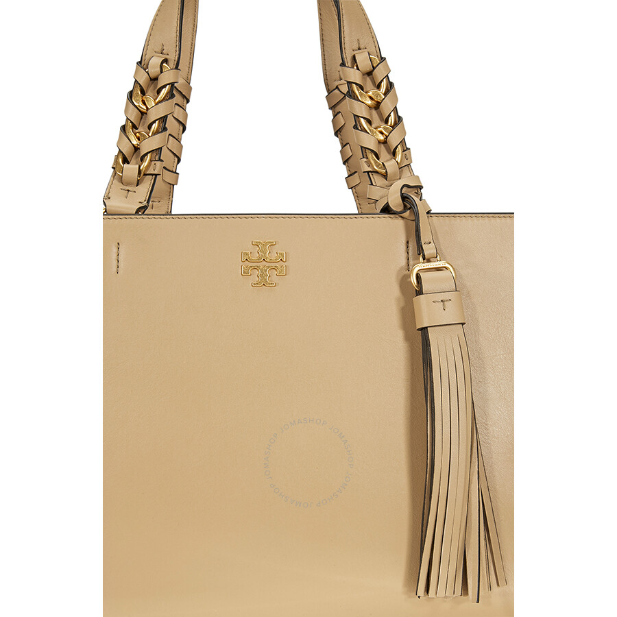 e26a3d1fc94f4 Tory Burch Brooke Smooth Leather Satchel- Savannah - Tory Burch ...