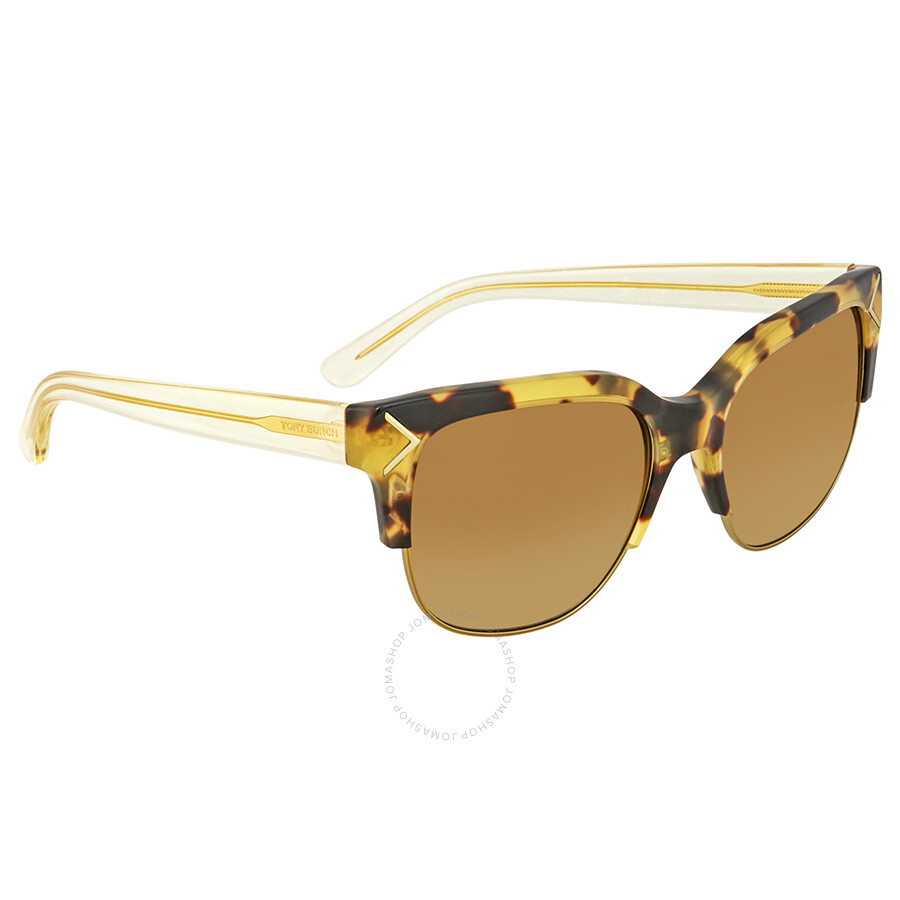18c26e986680 Tory Burch Brown Gradient Rectangular Sunglasses TY7117 17202L 55 ...