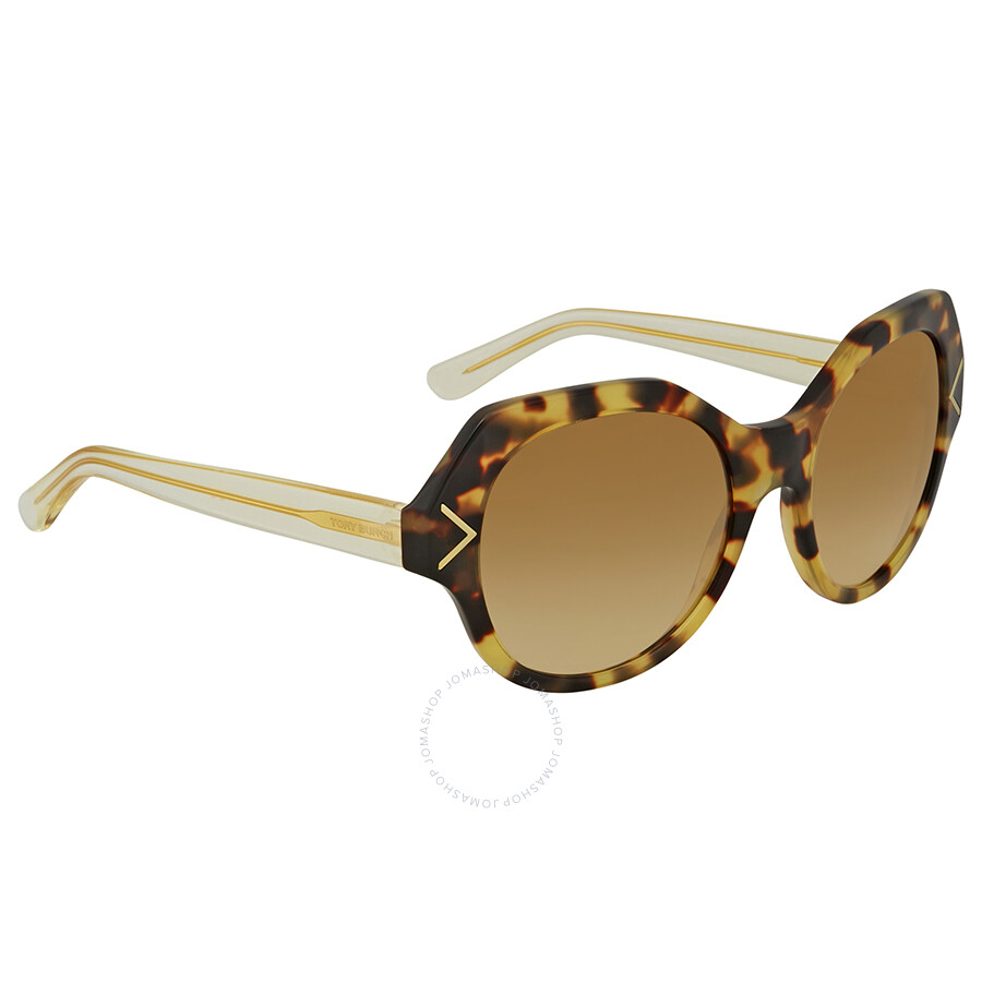 61bacc55d275 Tory Burch Brown Gradient Round Sunglasses TY7116 17182L 53 Item No. TY7116  17182L 53
