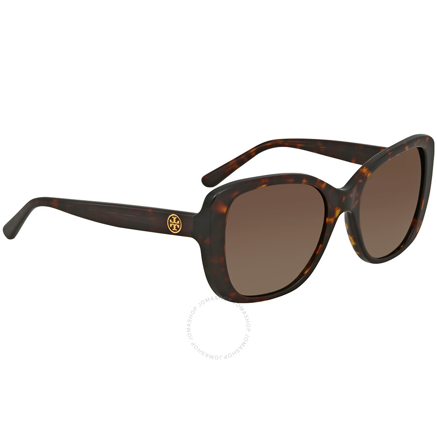 5c7f62c81d Tory Burch Brown Gradient Square Polarized Sunglasses TY7114 1378T5 53 ...