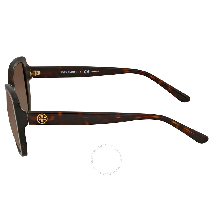 22793634a6d8 ... Tory Burch Brown Gradient Square Polarized Sunglasses TY7114 1378T5 53