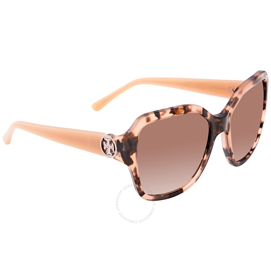 756b4aa2af71 Tory Burch Brown Rose Square Ladies Sunglasses TY712513511156 - Tory ...