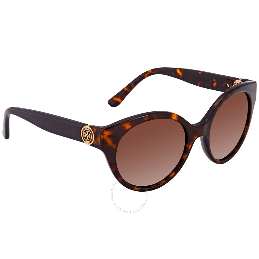 c1329bef86a1 Tory Burch Brown Round Ladies Polarized Sunglasses TY70871377T552 ...