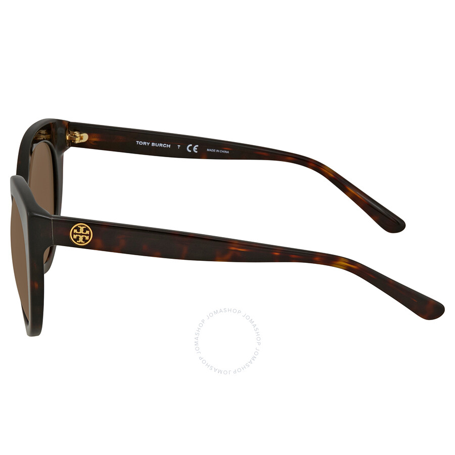 547594888974 Tory Burch Brown Round Sunglasses TY7115 137873 51 - Tory Burch ...