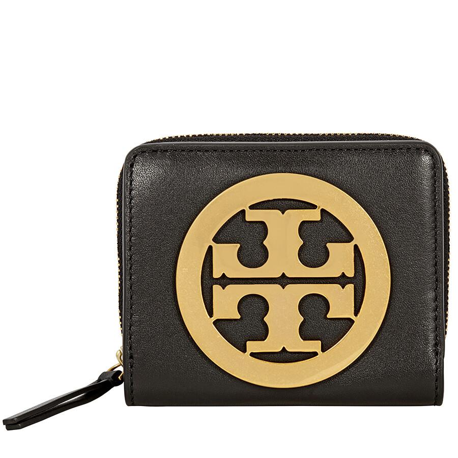 5e21820df08 Tory Burch Charlie Mini Bi-Fold Wallet - Black Item No. 41015-001