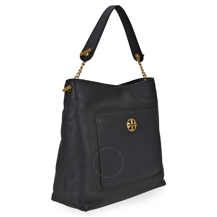 bf02d326326a Tory Burch Chelsea Chain Hobo Leather Bag- Black - Tory Burch ...