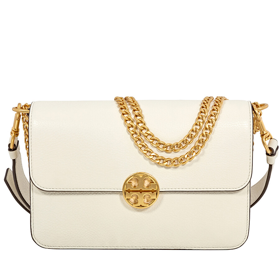 90fa53f5a Tory Burch Chelsea Convertible Pebbled Leather Shoulder Bag- New Ivory Item  No. 48735-104