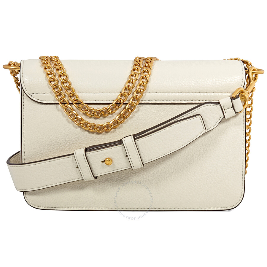 b571baa1d Tory Burch Chelsea Convertible Pebbled Leather Shoulder Bag- New Ivory