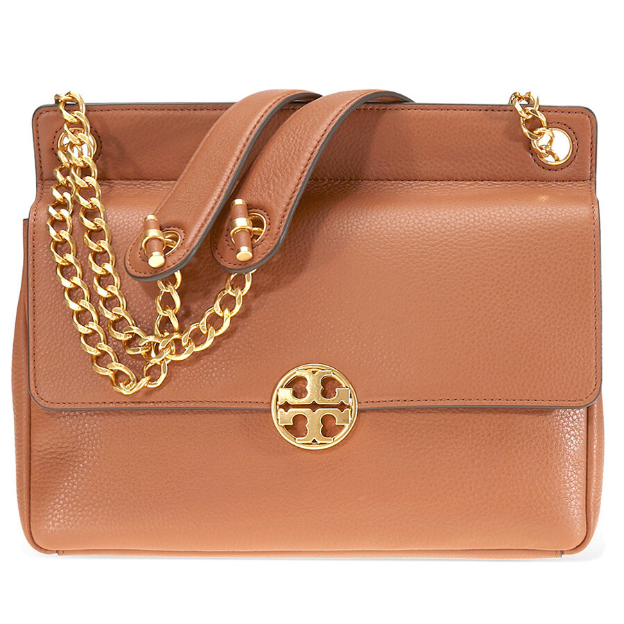 b220a062452d Tory Burch Chelsea Flap Pebbled Leather Shoulder Bag- Tan Item No. 48730-905