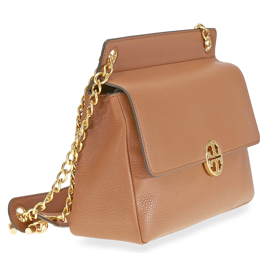 a79cabae04e1 Tory Burch Chelsea Flap Pebbled Leather Shoulder Bag- Tan - Tory ...