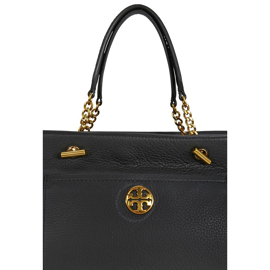 8c5e039e7e25 Tory Burch Chelsea Leather Satchel - Black - Tory Burch - Handbags ...
