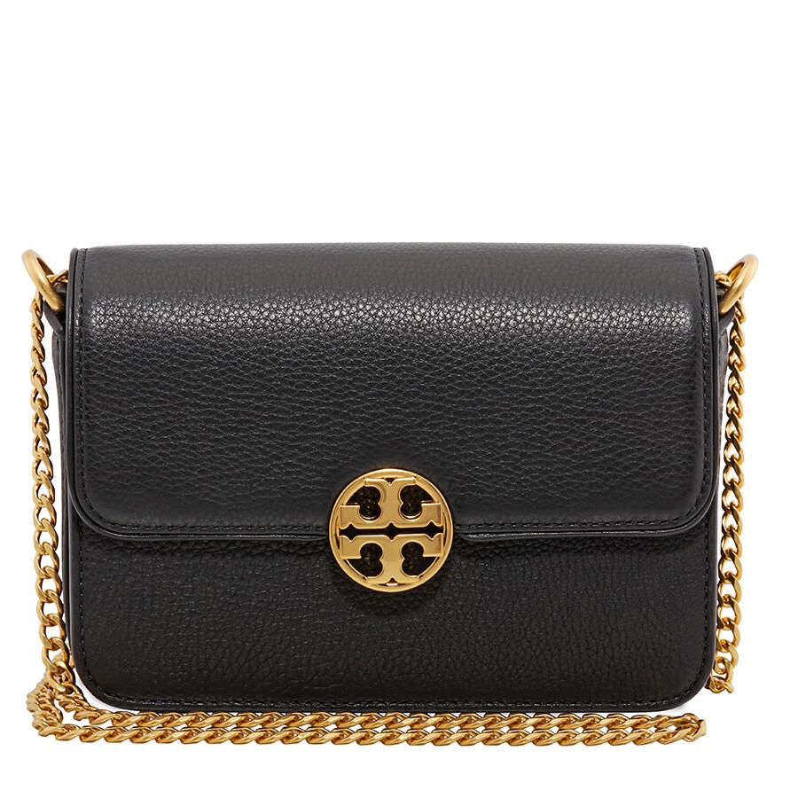 defb034d351 Tory Burch Chelsea Mini Leather Crossbody Bag- Black Item No. 50539-001