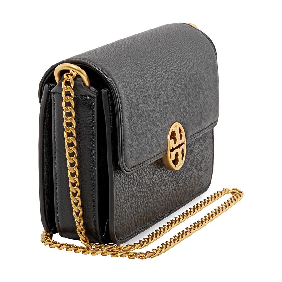 566f8ccdbac5 Tory Burch Chelsea Mini Leather Crossbody Bag- Black - Tory Burch ...