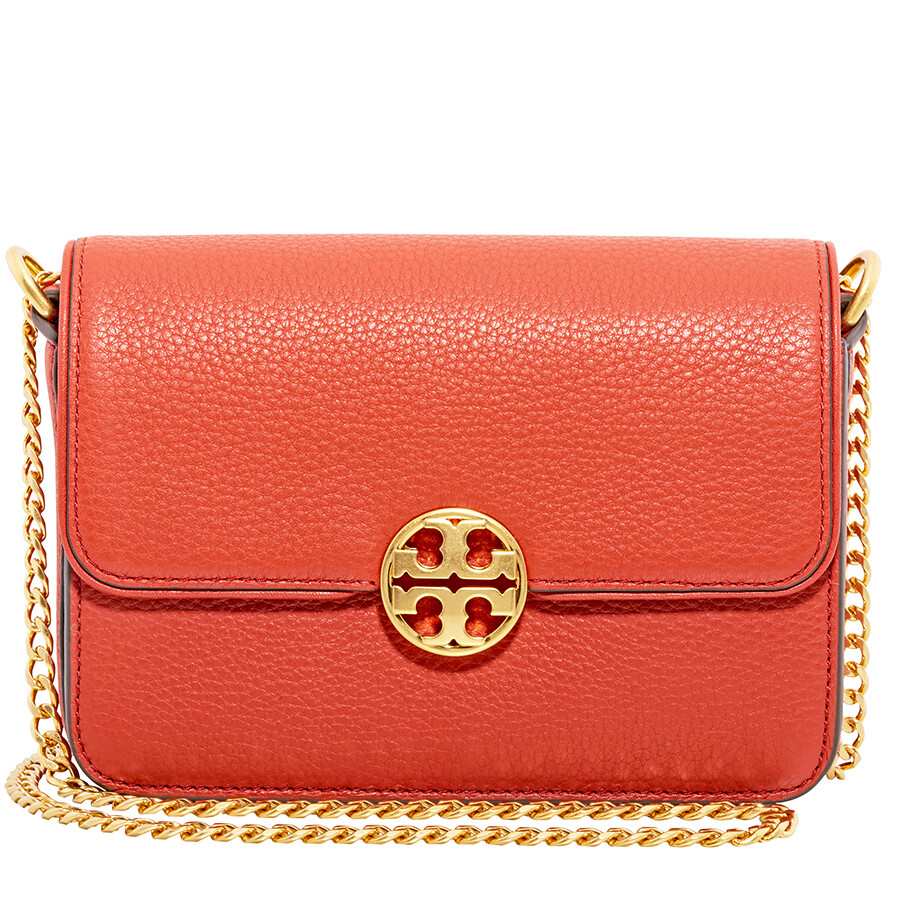 e7f6cd57926 Tory Burch Chelsea Mini Leather Crossbody Bag- Orange Item No. 50539-800