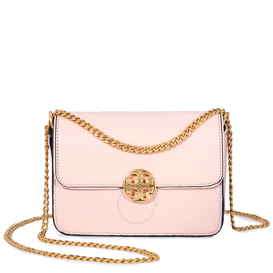 0b30776aee46 Tory Burch Chelsea Mini Leather Crossbody Bag- Pink Item No. 50539-661
