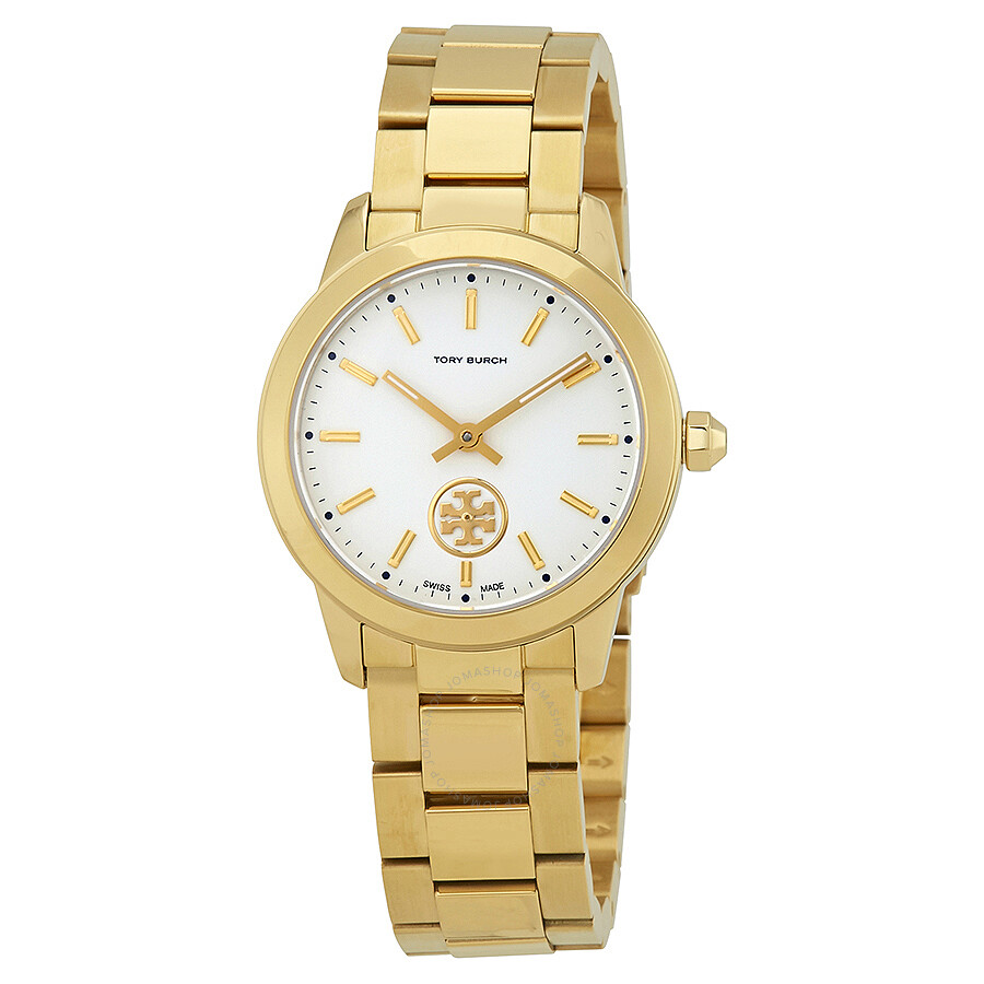 d8e412c68fb Tory Burch Collins Cream Dial Yellow Gold-tone Ladies Watch TB1300 ...