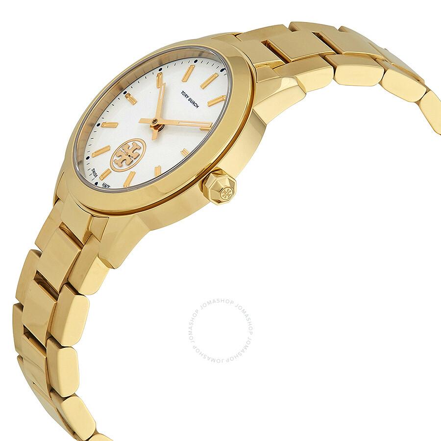 c0b07e6762cf ... Tory Burch Collins Cream Dial Yellow Gold-tone Ladies Watch TB1300 ...