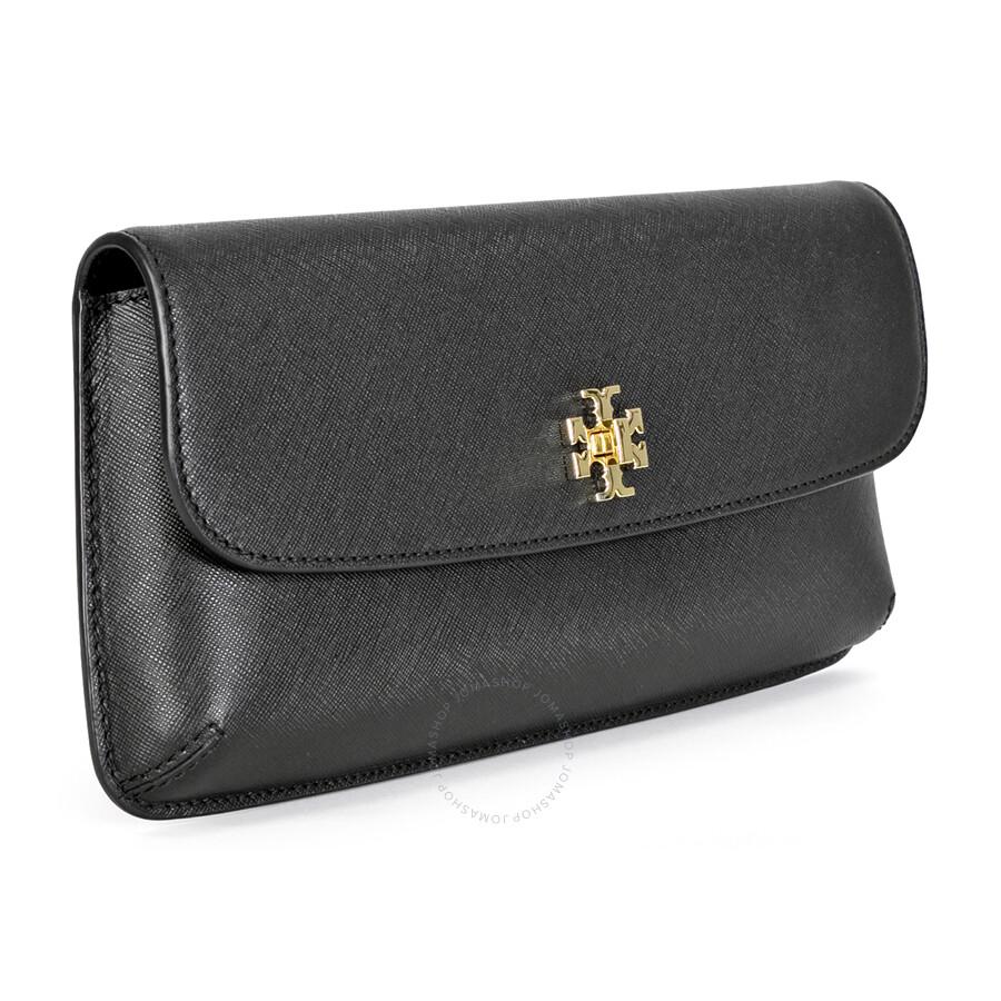 85547af1e7e1 Tory Burch Diana Black Saffiano Leather Ladies Clutch - Tory Burch ...