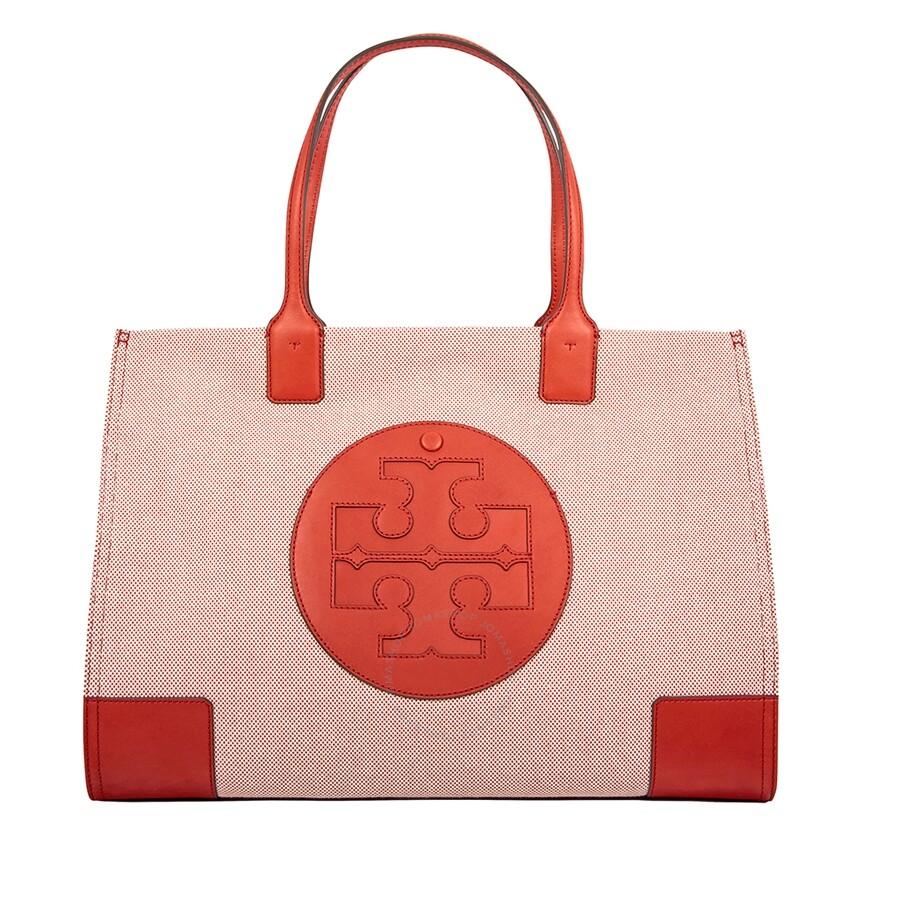 5b675b657b5 Tory Burch Ella Canvas Tote - Tory Burch - Handbags - Jomashop