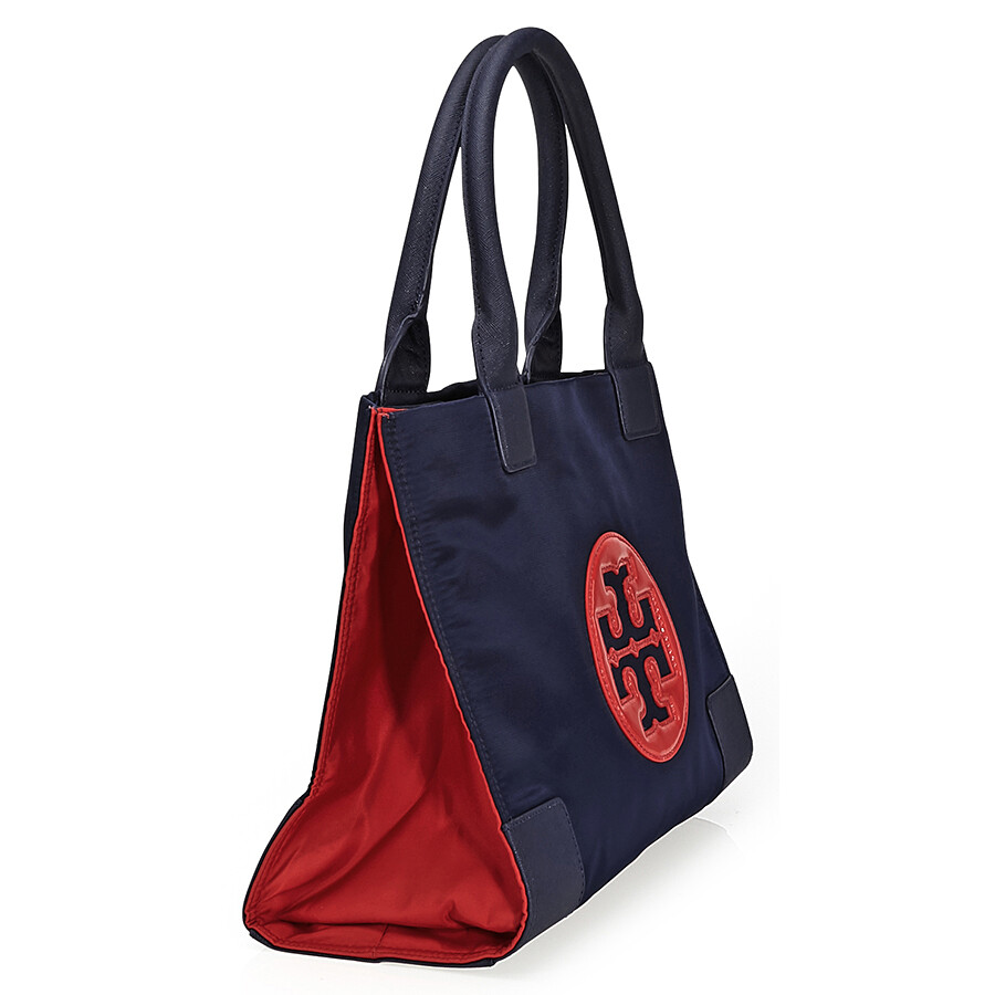 848aef228d4 ... Tory Burch Ella Color-Block Mini Tote - Royal Navy   Cherry Apple ...