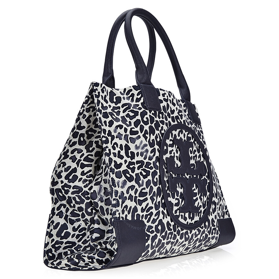 38bc0f8cefd2 Tory Burch Ella Large Nylon Tote - Clouded Leopard - Tory Burch ...