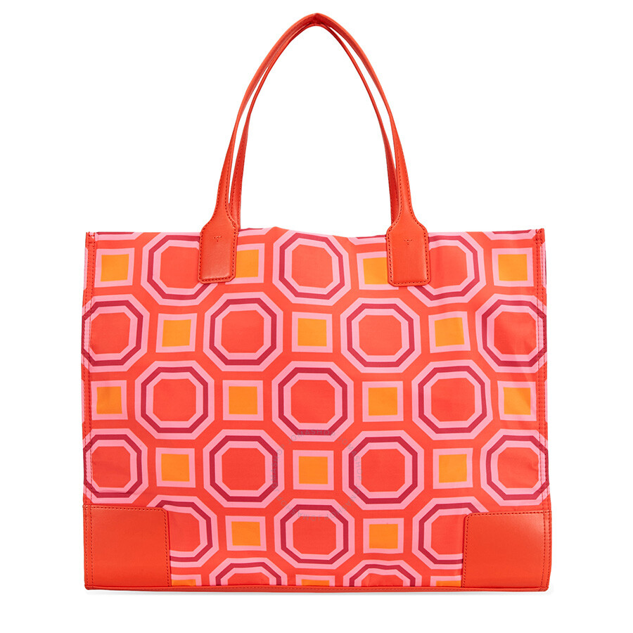 99ef21d3a04 Tory Burch Ella Octagon Printed Tote- Ballet Pink - Tory Burch ...