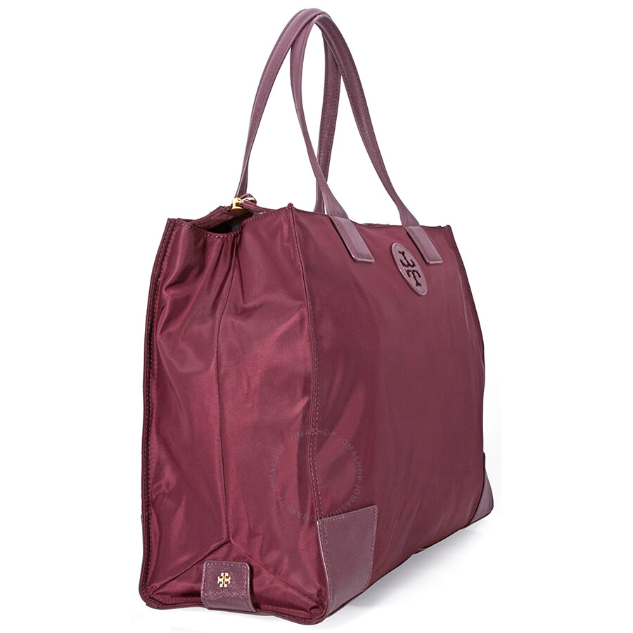 Tory Burch Ella Packable Mini Tote Garnet Handbags Nylon