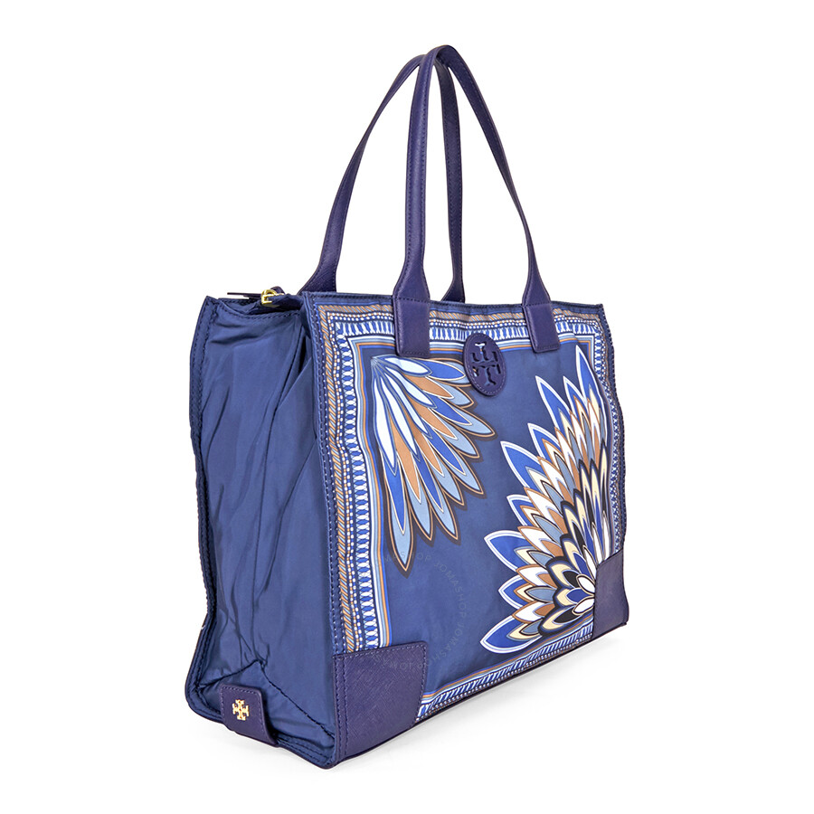 Tory Burch Ella Packable Tote - Navy Eden - Tory Burch - Handbags ... bfaa0ba495