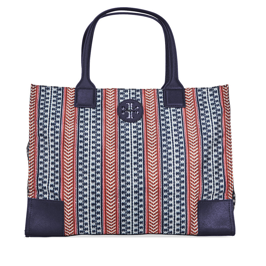 Tory Burch Ella Printed Packable Tote - Navy Multi Color