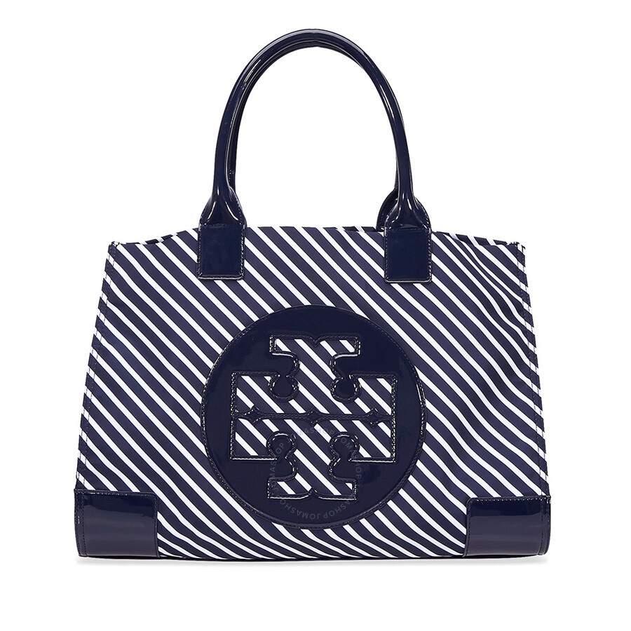 00e2f6b3ae0 Tory Burch Ella Stripe Nylon Tote - Regatta - Tory Burch - Handbags ...