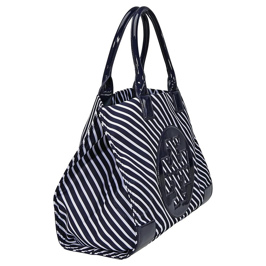 1ab1e720fa3e Tory Burch Ella Stripe Nylon Tote - Regatta - Tory Burch - Handbags ...