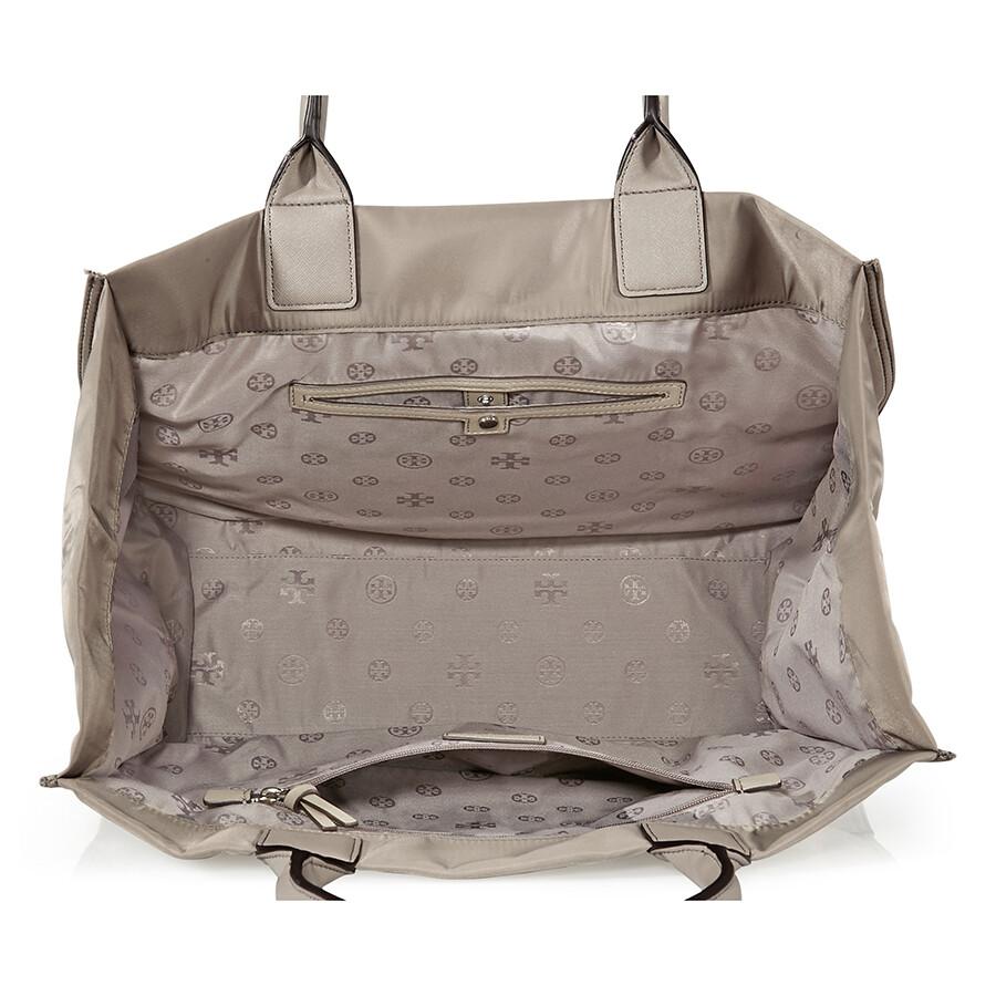 545dffe5053 Tory Burch Ella Stud Logo Tote- French Grey - Tory Burch - Handbags ...