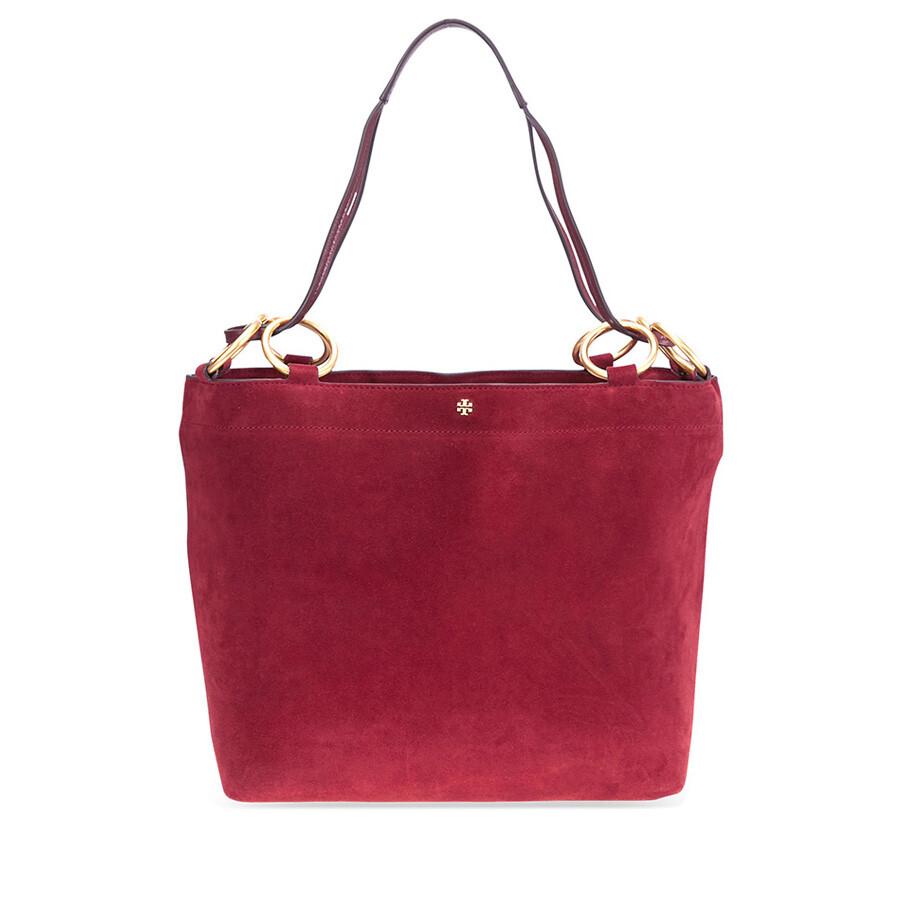 1d750dd64d1 Tory Burch Farrah Suede Tote- Exotic Red - Tory Burch - Handbags ...