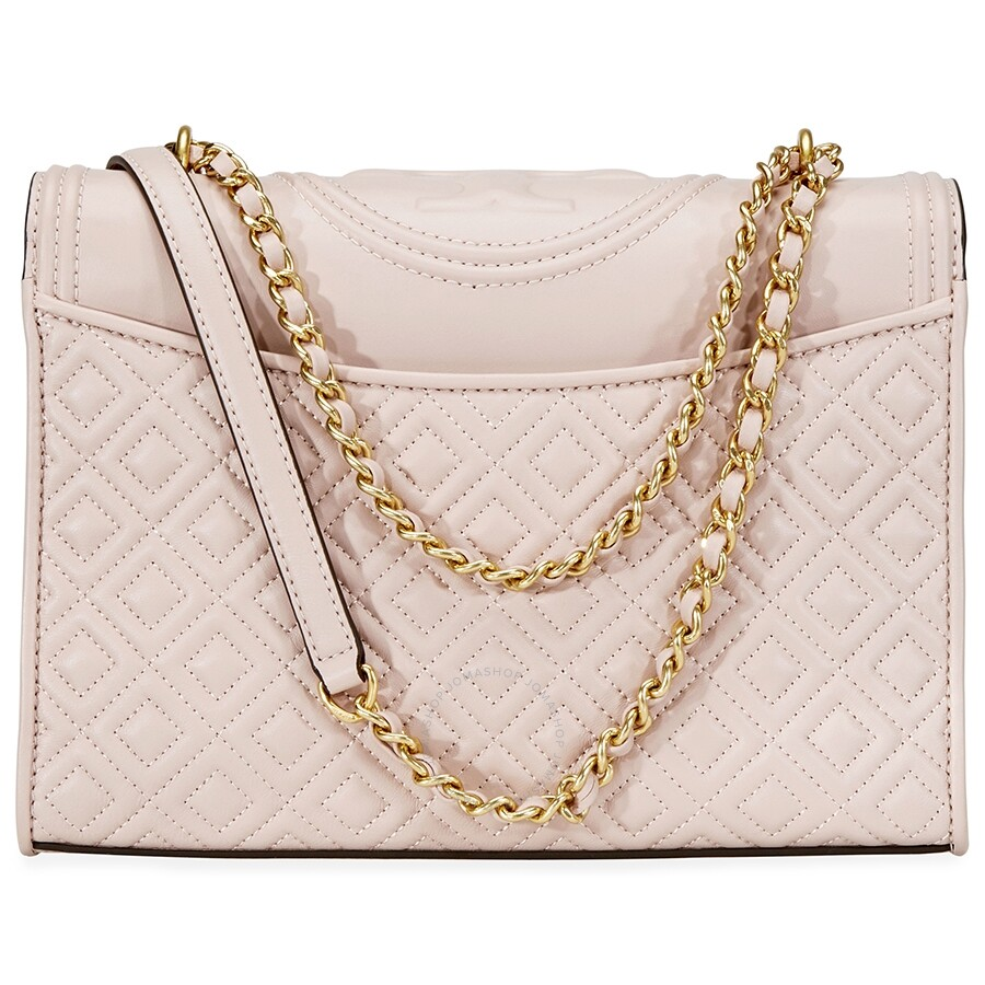 656243a6800 Tory Burch Fleming Convertible Leather Shoulder Bag- Shell Pink ...