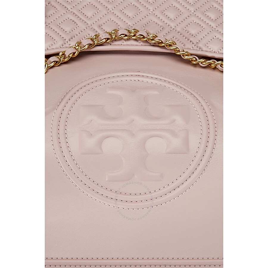 2fc87e38489d Tory Burch Fleming Convertible Leather Shoulder Bag- Shell Pink ...