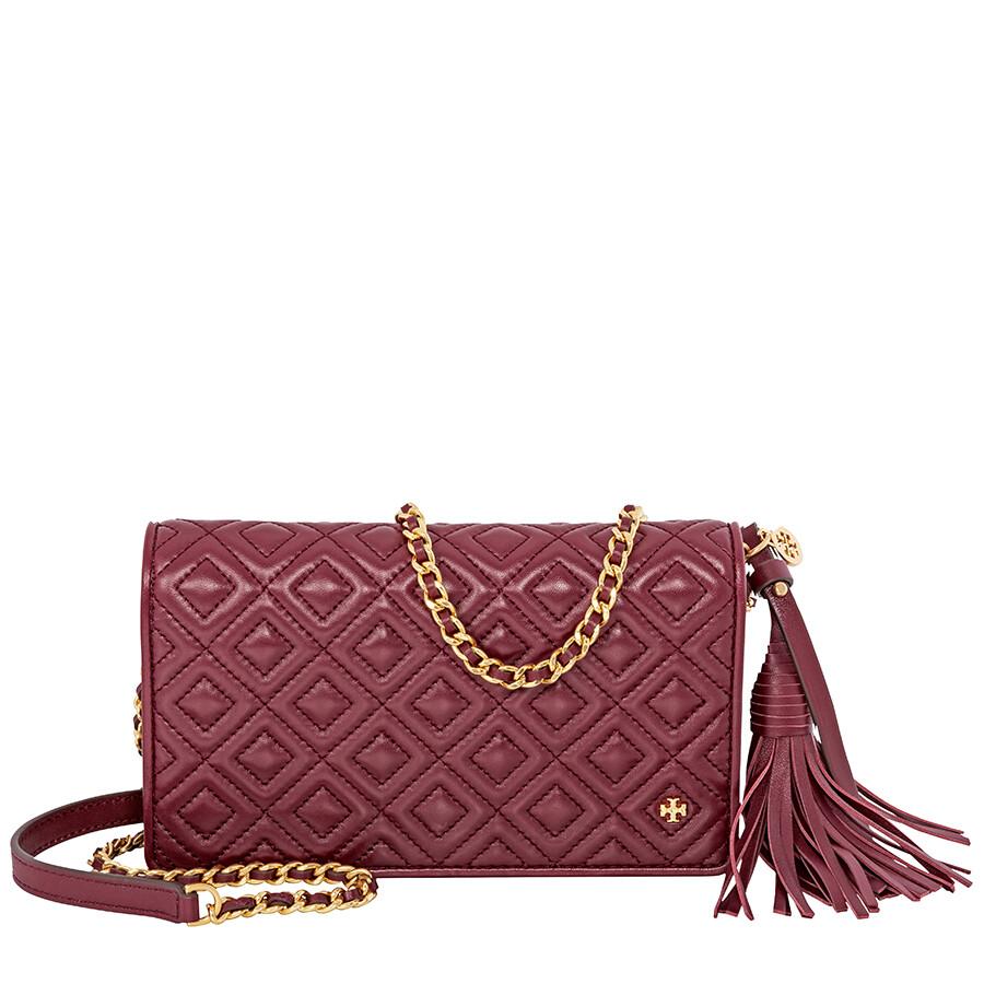 0da6c740a5f Tory Burch Fleming Flat Wallet Crossbody Bag- Imperial Garnet Item No.  46449-609