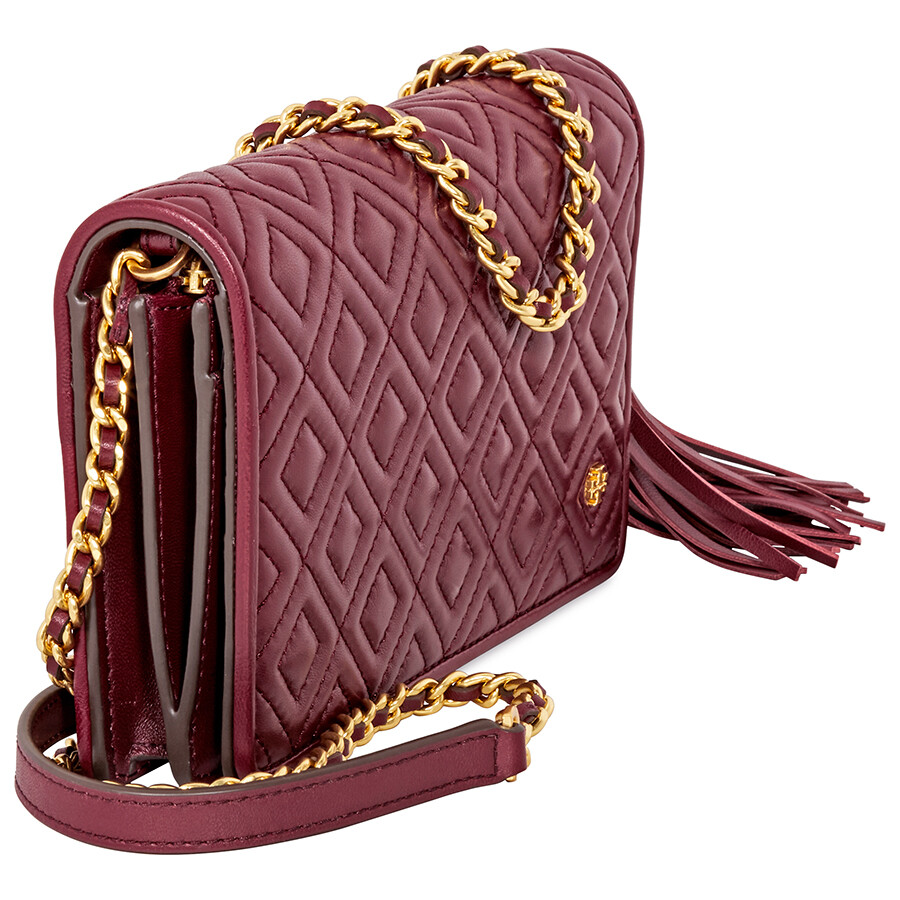 271e083d311 Tory Burch Fleming Flat Wallet Crossbody Bag- Imperial Garnet - Tory ...