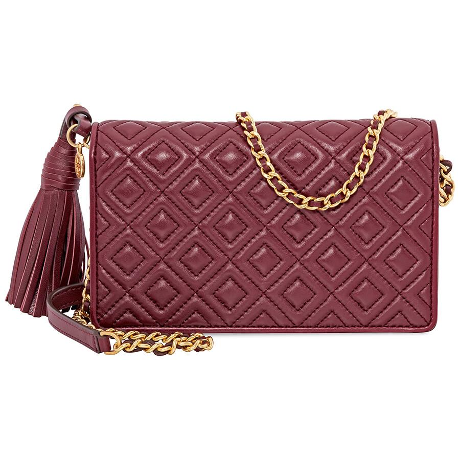 e4575931c117 Tory Burch Fleming Flat Wallet Crossbody Bag- Imperial Garnet - Tory ...