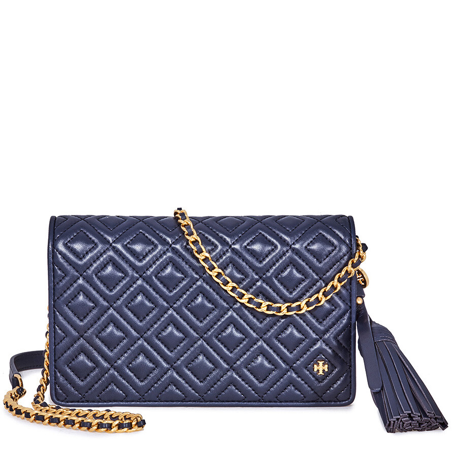 6c96413ed21 Tory Burch Fleming Flat Wallet Crossbody Bag- Royal Navy Item No. 46449-403
