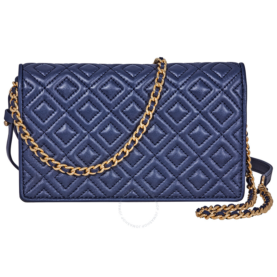 67c16ee7a036 Tory Burch Fleming Flat Wallet Crossbody Bag- Royal Navy - Tory ...