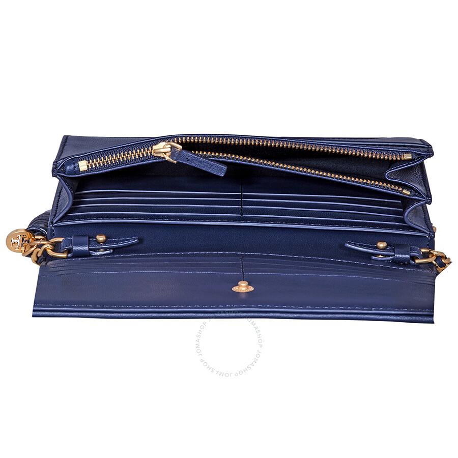 b32e4893f69e Tory Burch Fleming Flat Wallet Crossbody Bag- Royal Navy - Tory ...