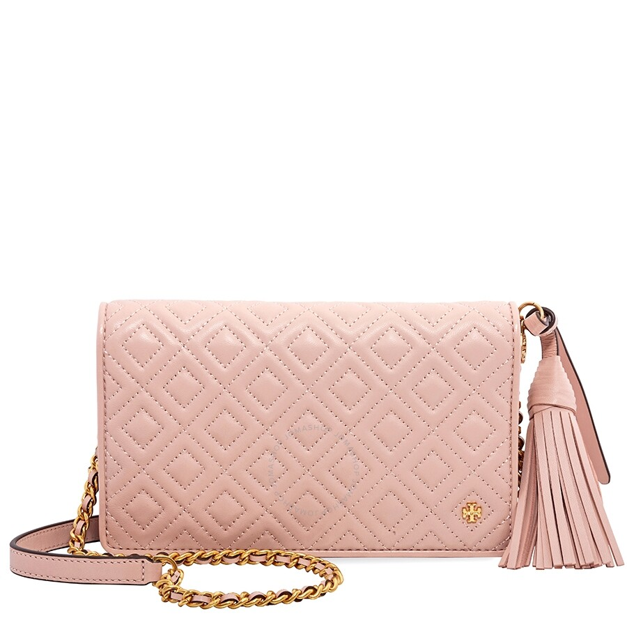 114fde4398d Tory Burch Fleming Flat Wallet Crossbody Bag- Shell Pink Item No. 46449-652