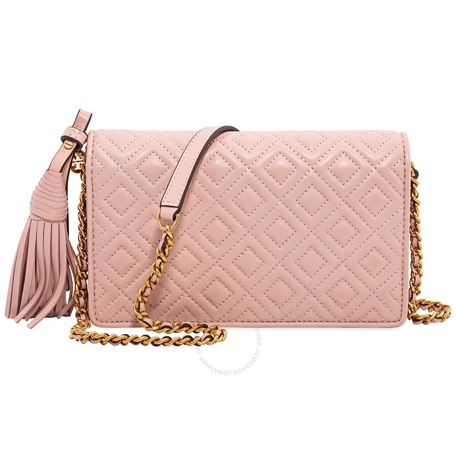 d74ec5cd77c7e Tory Burch Fleming Flat Wallet Crossbody Bag- Shell Pink - Tory ...