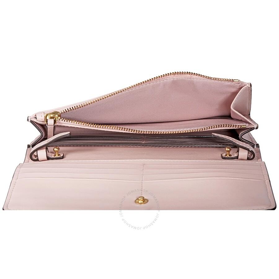 a43cdf956580 Tory Burch Fleming Flat Wallet Crossbody Bag- Shell Pink - Tory ...
